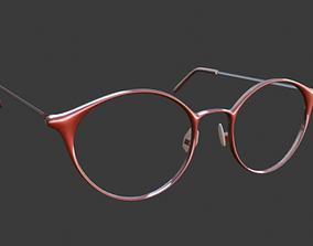 character 3D model glasses