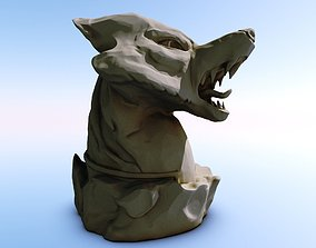 Winter Wolf -Thane- 3d-print and low-poly version