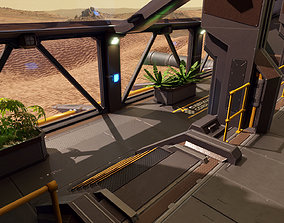 Sci Fi Space Station 2 Modular Kit 3D asset