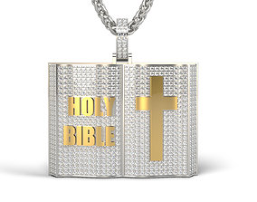 3D printable model bible Bible pendant