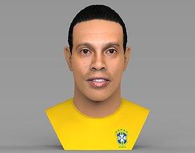 Ronaldinho bust ready for full color 3D