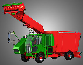 3D model Fodder Mixing Wagon 1402sf picking up