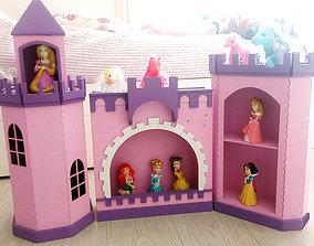 Princes castle Laser-cut MDF Tower 3D model