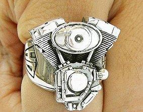 Ring Harley Davidson motors 3D print model printer
