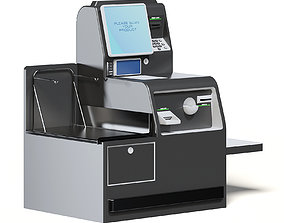 Self Service Cash Register 3D Model self