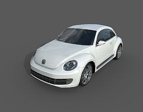 Low Poly Car - Volkswagen Beetle 2012 3D asset