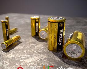 Battery D180810 3D asset