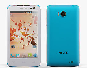 3D asset Philips Xenium W732 White Blue