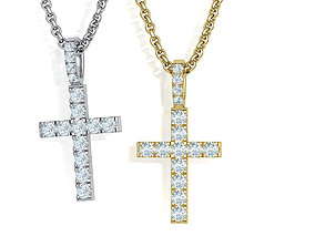 Diamond Pave Cross 32mm with French Pave Setting 3dmodel