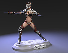 3D printable model Bellona attack pose