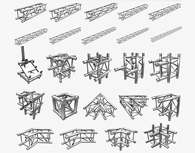 3D Square Truss Standard Collection - 24 PCS Modular