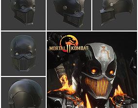 3D printable model Noob Saibot helmet from Mortal Kombat 2