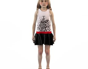 Girl dress t shirt skirt Baby clothes 3D toddler