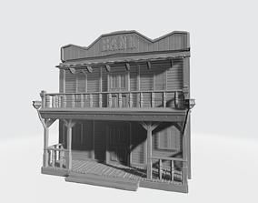 3D printable model Wild west bank