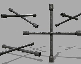 spanner monkey 3D model realtime Lug Wrench