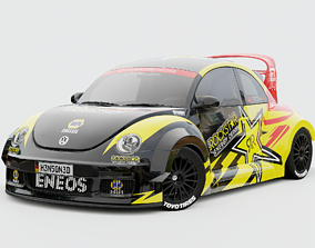 VW Beetle RSi 2003 Rally Livery Rigged fast 3D model