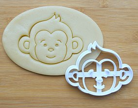3D printable model MONKEY COOKIE AND FONDANT CUTTER WITH