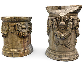 Roman Greek Column Base 3D asset