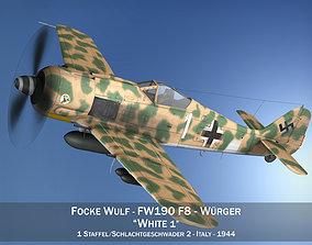 3D Focke Wulf - FW190 F8 - White 1