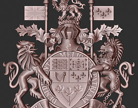 Coat of arms of the Canada 3D print model