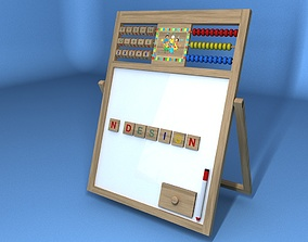 CAILLOU ABACUS WOOD WHITEBOARD 3D