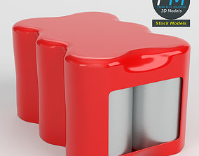 3D Pack of six soda cans