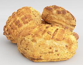 3D asset Photorealistic Crusty Sourdough Bread