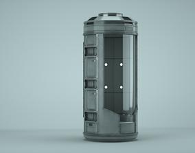 3D model PBR Scifi pod