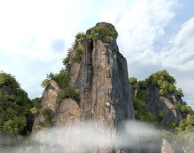 3D rigged mountain peak