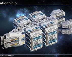 Spaceship Colonization Ship 3D asset
