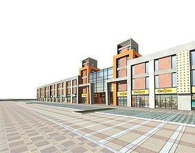 3D model block Commercial Building