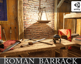 3D model Roman Barrack