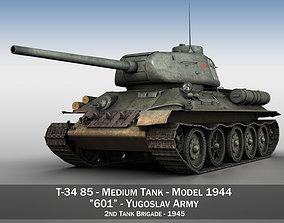 3D T-34 85 - Soviet medium tank - 601