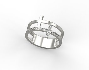 Ring two crosses 3dm stl CAD