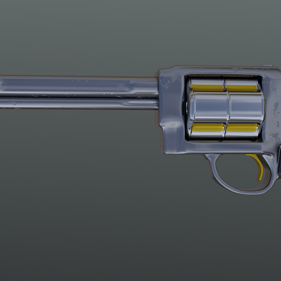 High-poly Gun Asset