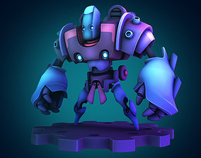 Multi head mecha 3D printable model