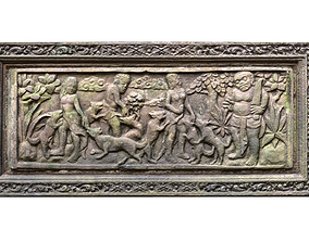 3D model Balinese Wall Barelief Decorative People