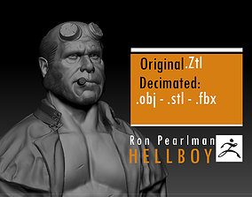 3D printable model Ron Pearlman - Hellboy - Guillermo 3