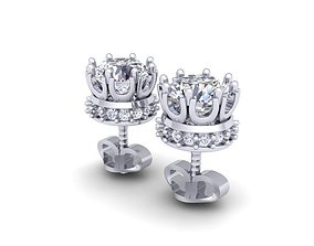 Fancy Diomand Earring 3d Model Print fashion-and-beauty