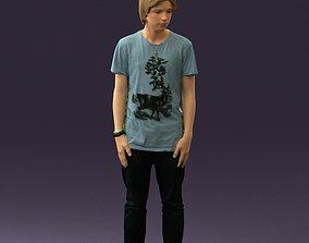 Junior in blue shirt jeans 0589 3D printable model