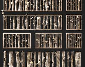 Log clear decor firewood 3D model