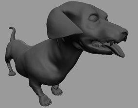 blender dachshund 3D model