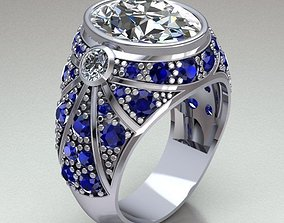 Ring Man gemstone 3D print model