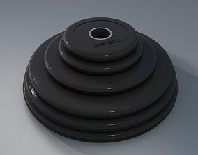 3D model realtime The weight plates for barbell