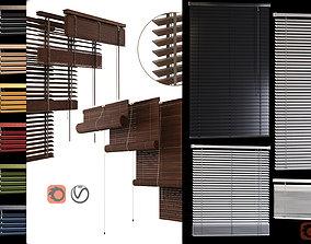 WOODand PVC Blinds 3D model