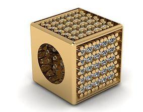 3D print model cube sugar charm ball