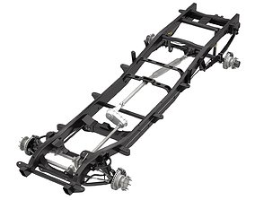 3D model DUALLY PICKUP TRUCK CHASSIS 4WD IFS