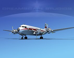 Douglas DC-7B Saturn 3D model
