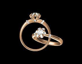 3D print model gem ring