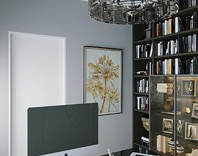 3D model Interior Ar Deco Office 01